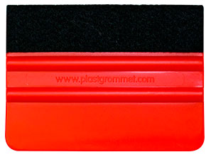 Felt edge Red squeegee 10cm
