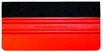 Felt edge Red squeegee 15cm